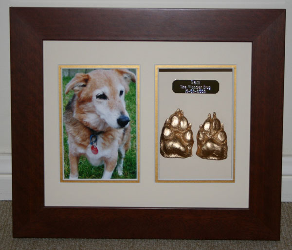 Paw Print Cast Memorial Hanging Frames Pets At Peace